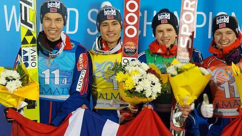 Gull-laget Junior-VM 2015. Foto: Skiforbundet